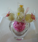 Cake Pops - White Flowers Wrapped
