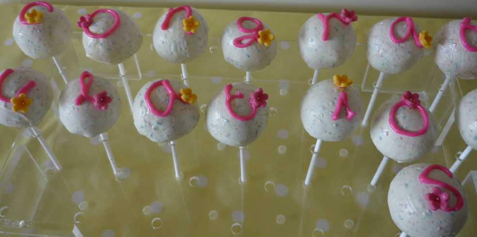 Cake pops – personal messages