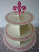 Cupcake Stand - Pink and Cream