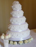 Wedding Cake - Vintage Lace 5 Tier
