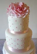 Pink Polka Dot Cake - Weddings