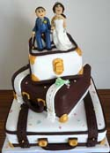 3 Tier Suitcase Cake - Weddings
